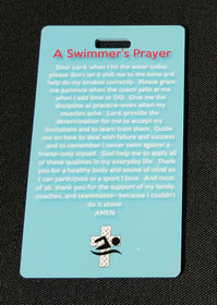 A Swimmers Athletes Prayer Swim Bag Tag, Sport Bag Tag, Swim Team Bag Tag, Swim Party favor Inspirational Gift Personalized - FlipTurnTags