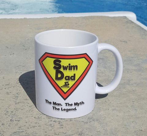 Swim Dad, 11oz coffee mug - FlipTurnTags