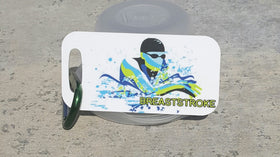 Breaststroke Swim Metal Bag Tag - FlipTurnTags