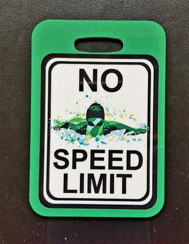 No Speed Limit Swim Bag Tag