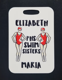 Swim Sisters Swim Bag Tag luggage tag