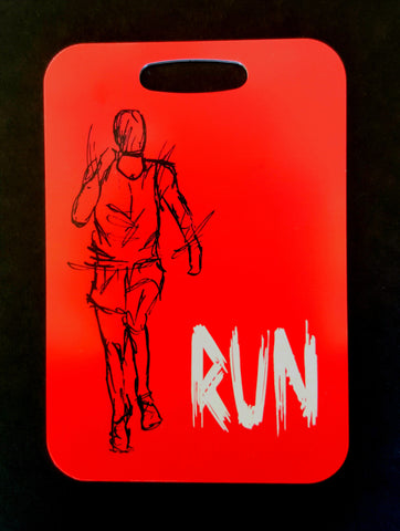 Runner, Run, triathlon Bag Tag swim luggage tag - FlipTurnTags