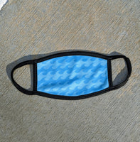 WAVE themed  Swim Face Mask, super soft, US ship
