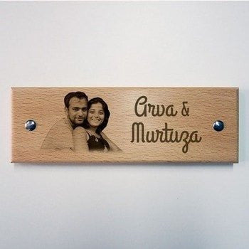 Personalized Engraved Name Plate - HandmadeJunction.in