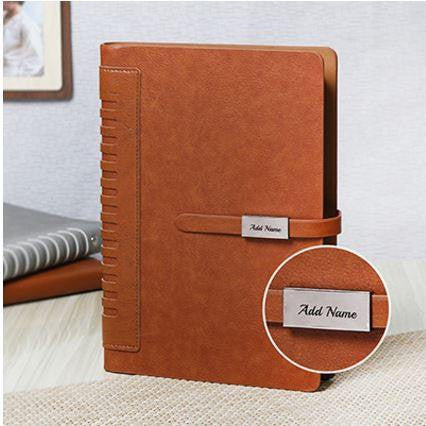 Brown Personalized Diary