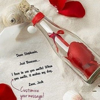 Personalized Message Bottle - HandmadeJunction.in