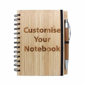 Personalized Wooden Notebook - HandmadeJunction.in
