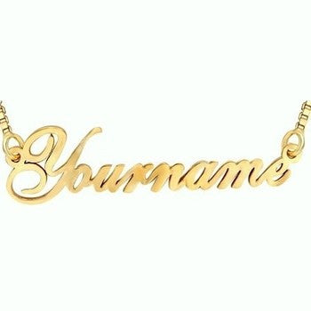 Silver Name Necklace - HandmadeJunction.in