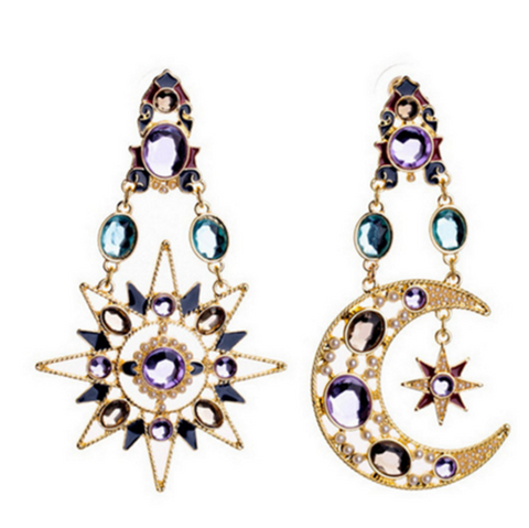 Sun and Moon Statement Earings