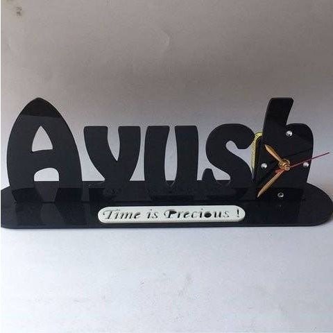 Name Table Clock