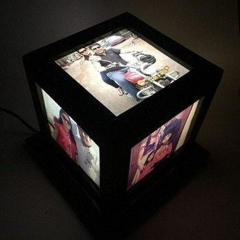 Personalized Cube Lamp - HandmadeJunction.in