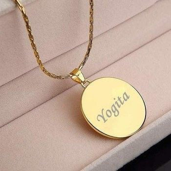 Engraved Necklace - HandmadeJunction.in