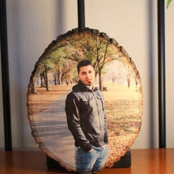 Photo on Wooden Log - HandmadeJunction.in