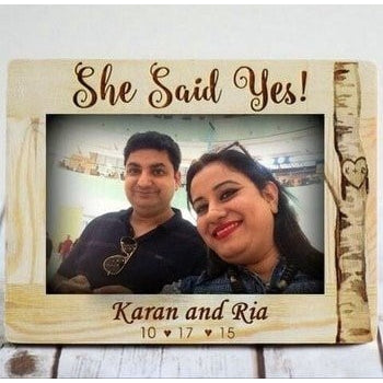 Wooden Engraved Frame