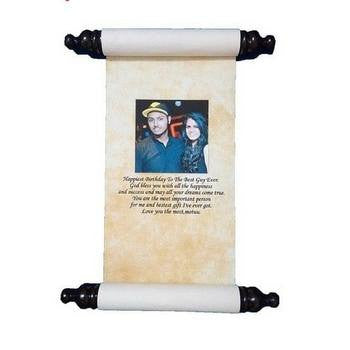 Personalized Scroll Card - HandmadeJunction.in