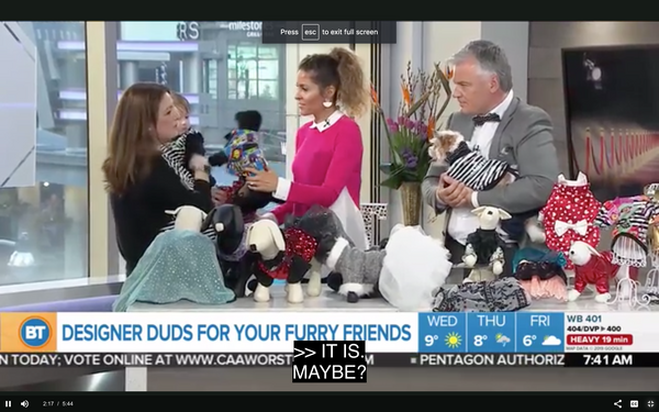 Ruff Stitched on Breakfast Television Toronto