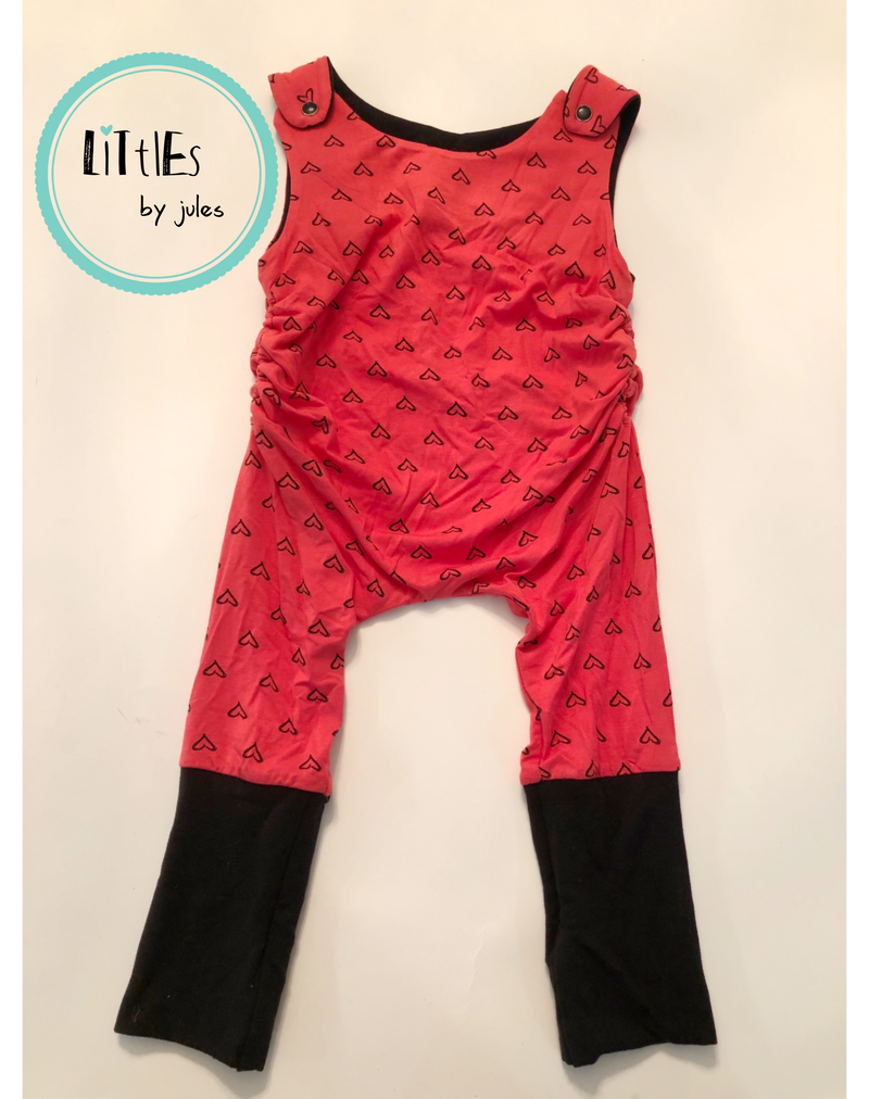 Grow with me Sleeveless Rompers - Ruff Stitched