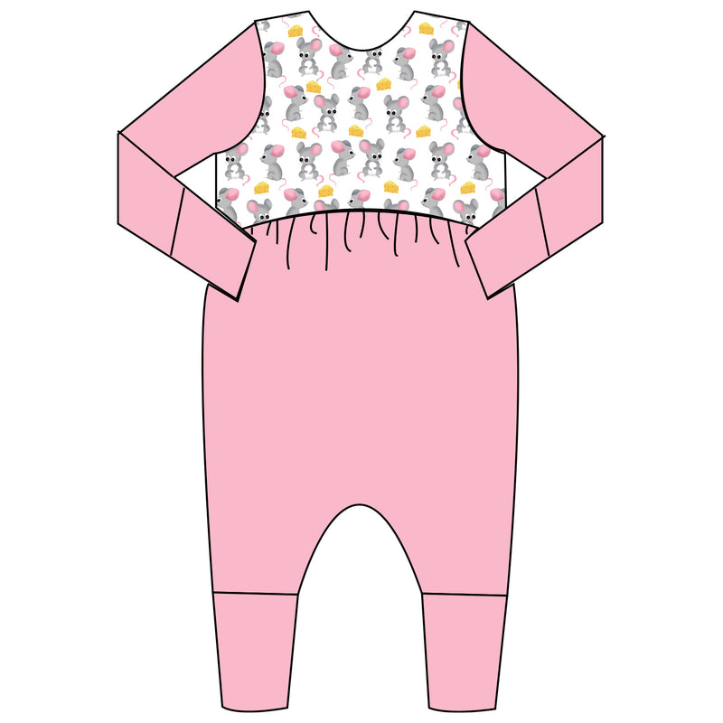 Relaxed Romper - Ain't Easy Being Cheesy