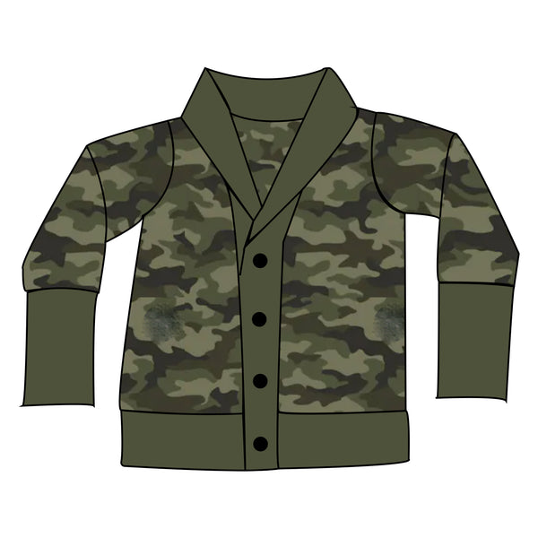 The Snuggle Is Real - Camo Adult Boyfriend Cardi