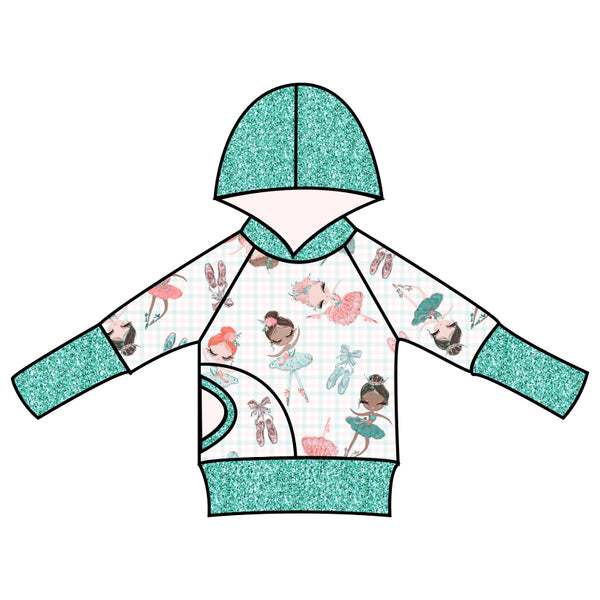 Grow With Me Hoodie Petite Ballerina - Ruff Stitched