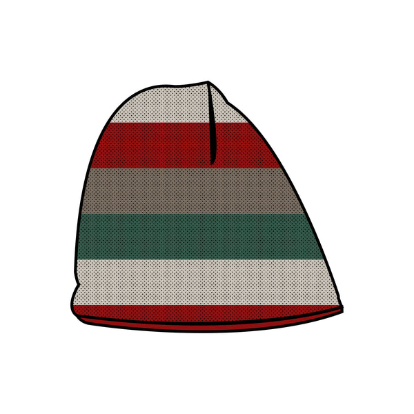 Reversible Beanie - Holiday Stripes