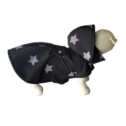 Black Stars Raincoat - Water Resistant - Ruff Stitched