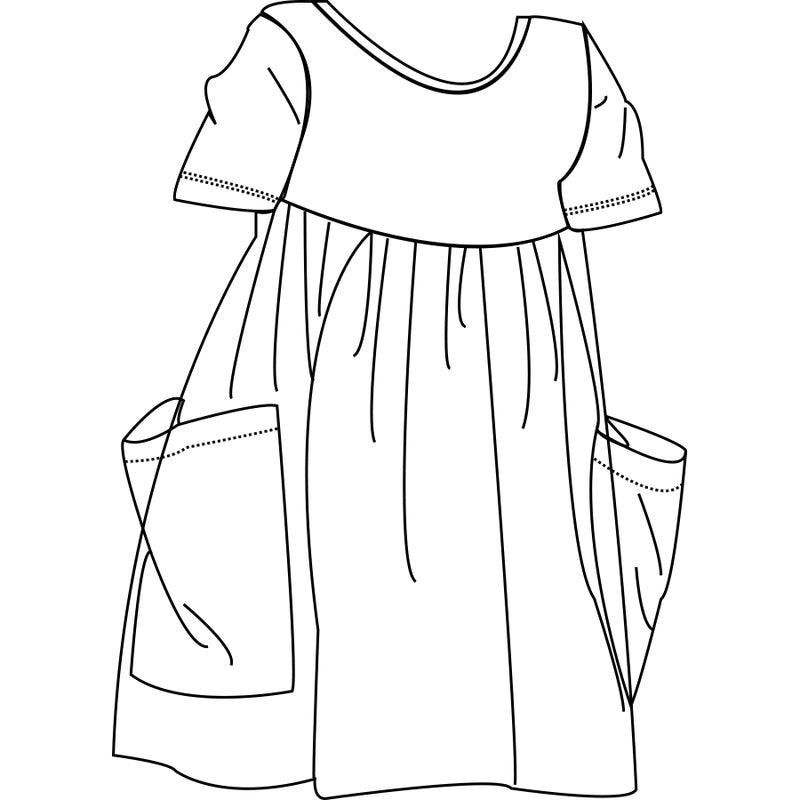 Children's short sleeve pocket dress