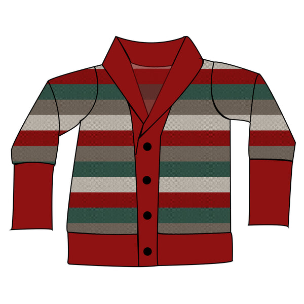 Boyfriend Cardi - Holiday Stripes