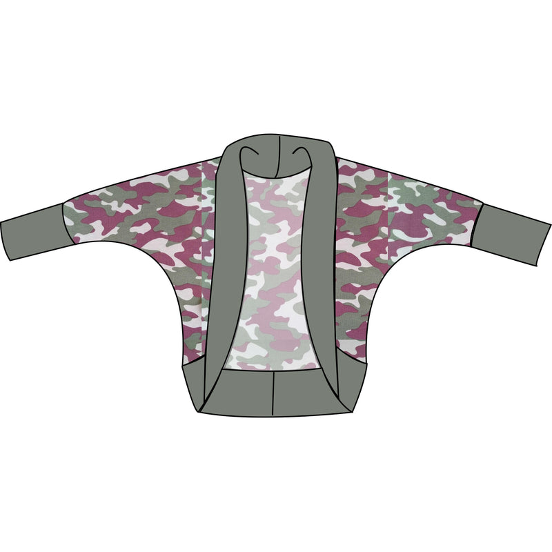 The Snuggle Is Real - Camo Adult Cocoon Cardi