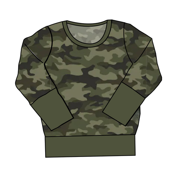 The Snuggle Is Real - Camo Adult Crewneck