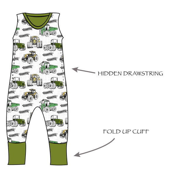 Grow With Me Romper Summer Collection - Ruff Stitched