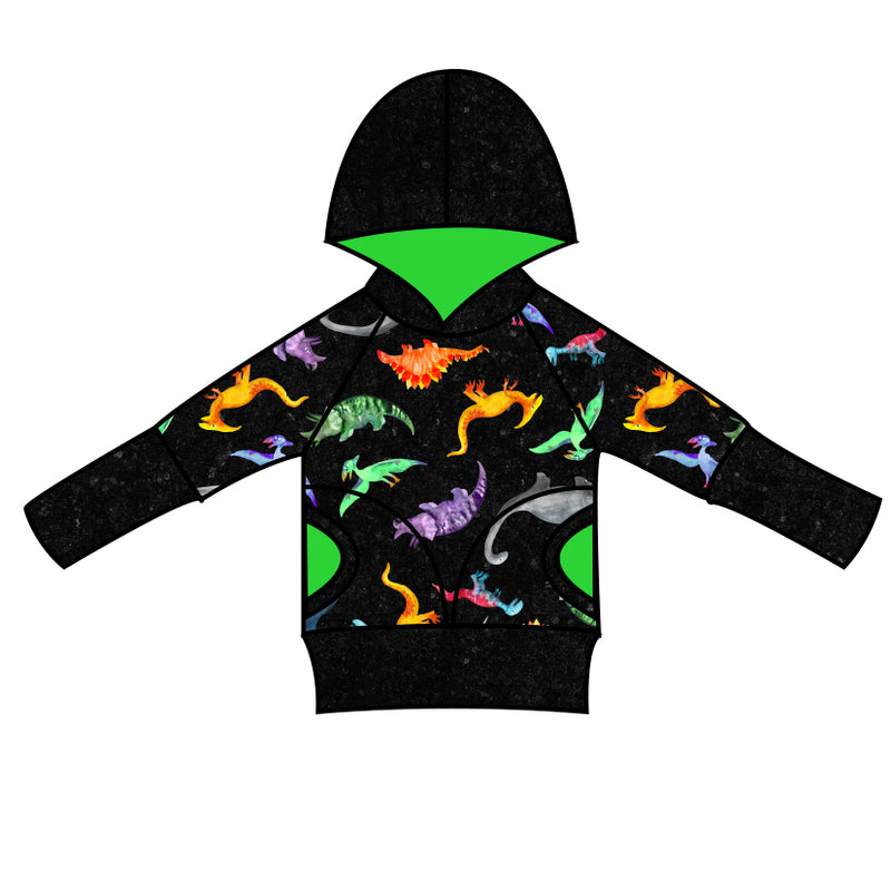 Grow With Me Hoodie Dino World - Ruff Stitched