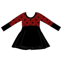 Grow With Me Dress - Holiday Dots