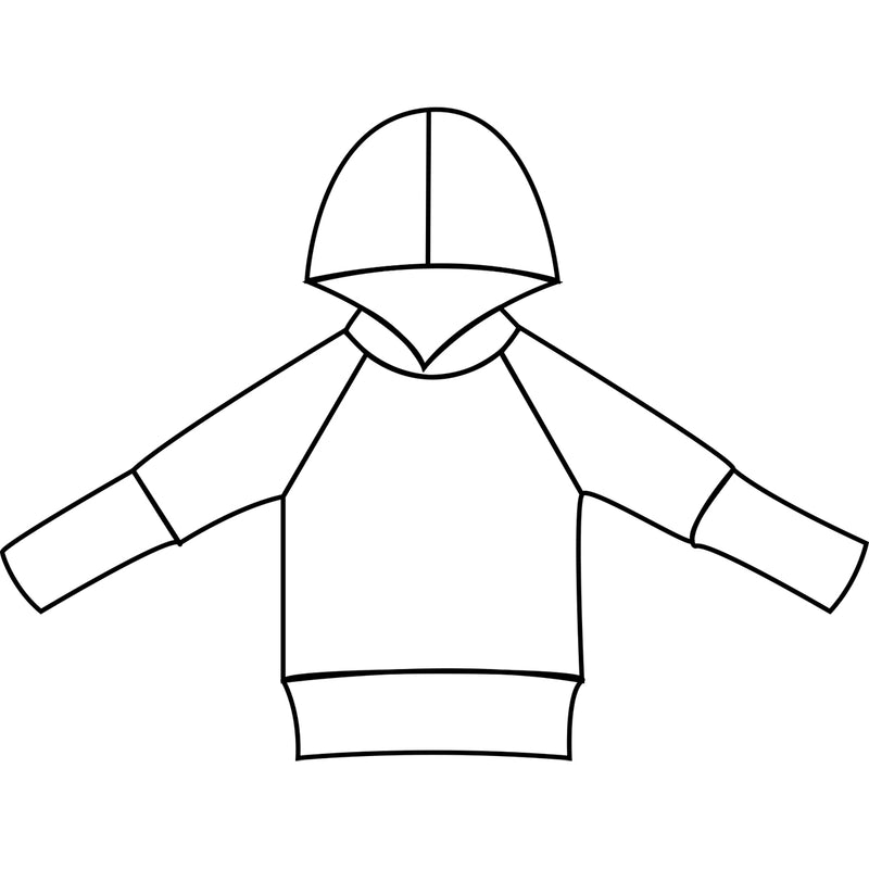 Children's hoodie with and without pockets