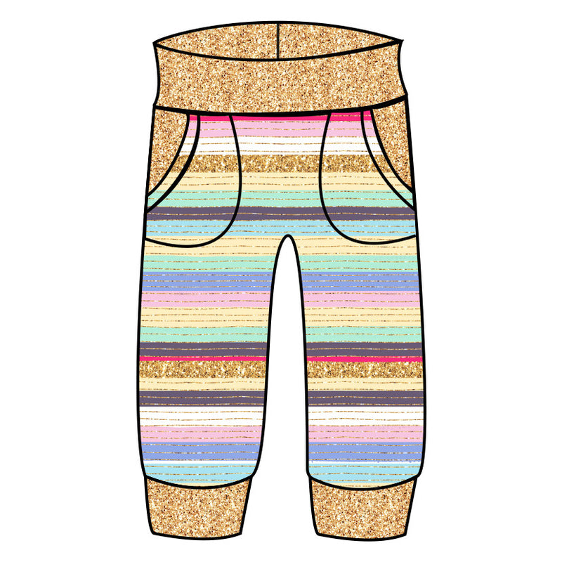 Grow With Me Joggers Sparkle between the lines - Ruff Stitched
