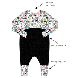 Grow With Me Relaxed Romper - Hipster Bunny - Ruff Stitched