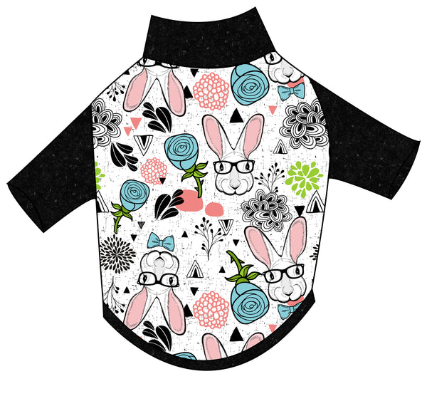 Hipster Bunny T-Shirt - Ruff Stitched