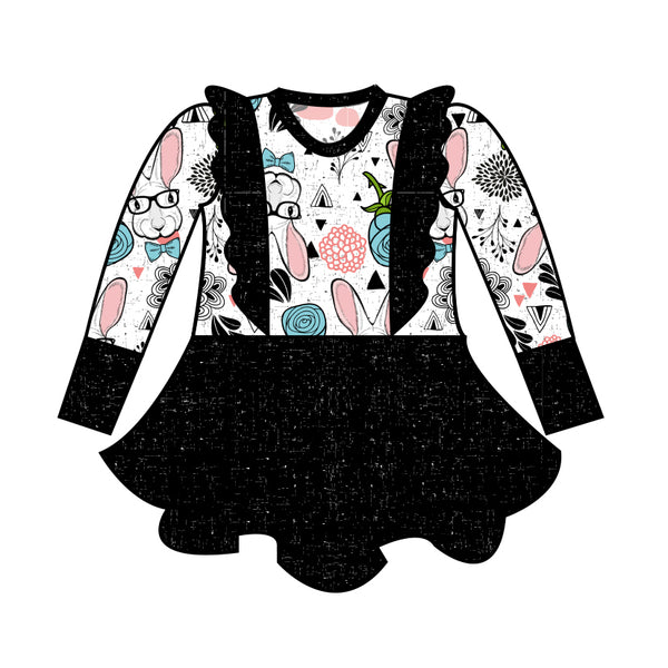 Grow with Me Peplum - Hipster Bunny - Ruff Stitched