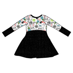 Grow With Me Dress Hipster Bunny - Ruff Stitched