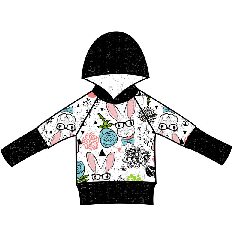 Grow With Me Hoodie Hipster Bunny - Ruff Stitched