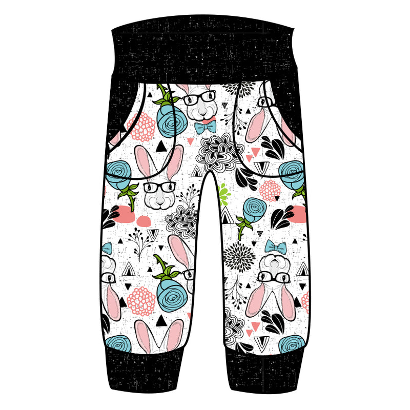 Grow With Me Joggers Hipster Bunny - Ruff Stitched