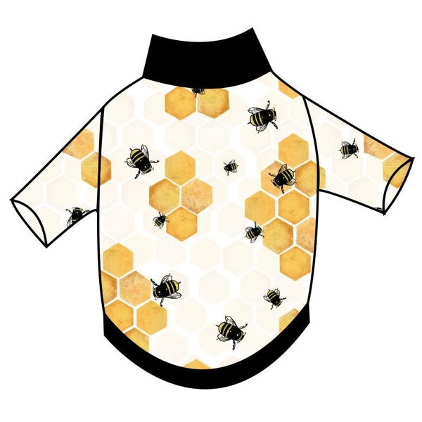 Honeycomb Bees T-Shirt - Ruff Stitched