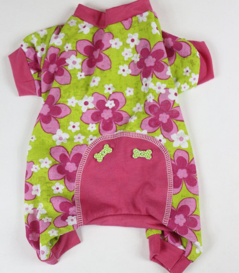 Lounge Around Onesie - Green Floral - Ruff Stitched