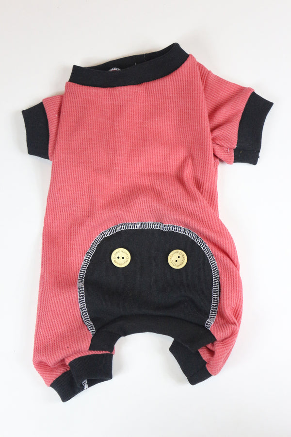 Lounge Around Onesie - Pink/Black - Ruff Stitched