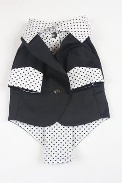 The Black Ruxedo - Black Polka Dot Shirt - Ruff Stitched