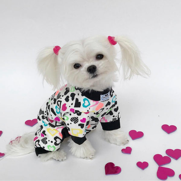 Lounge Around Onesie - I Heart PJs - Ruff Stitched