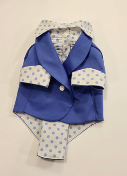 The Blue Ruxedo - Blue Polka Dot Shirt