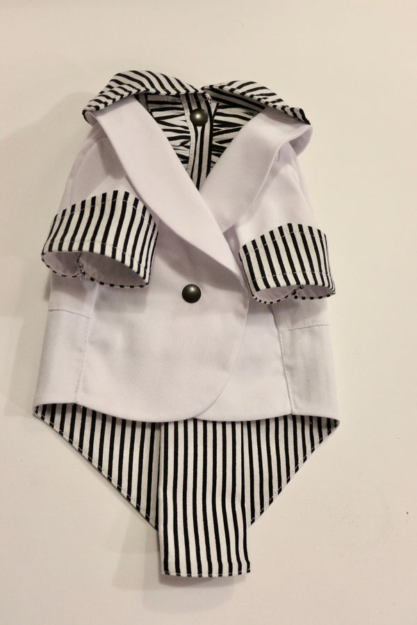 The White Ruxedo - Black/White Striped Shirt