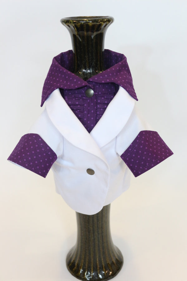 The White Ruxedo - Purple Dotted Shirt