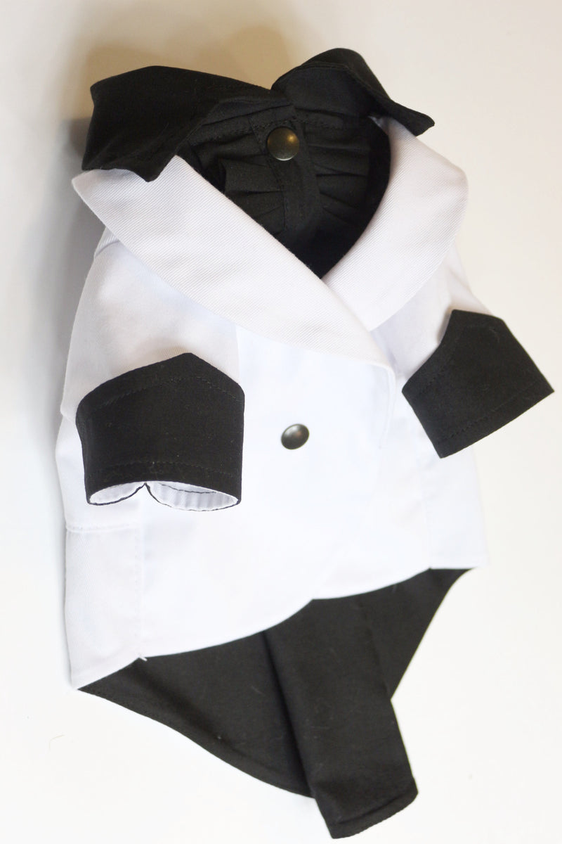The White Ruxedo - Black Shirt - Ruff Stitched